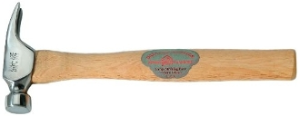 "Dalluge 1600 16 Oz 14"" Trim Hammer Wood Handle"