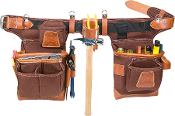 Occidental Leather 9855- Adjust-to-Fit Fatlip Tool Bag Set- Cafe