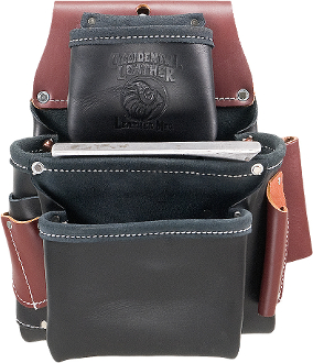Occidental Leather B5060 3 Pouch Pro Fastener™ Bag- Black