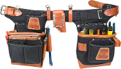 Occidental Leather 9850- Adjust-to-Fit Fatlip Tool Bag Set- Blk