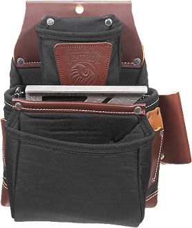 Occidental Leather B8060 Black OxyLights™ 3 Pouch Fastener Bag