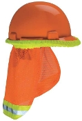 MSA 10098031 Hard Hat Protector SunShade for All MSA Hard-Orange
