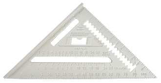 "Johnson RAS-1 7"" Johnny Square Alum Rafter Angle Square w/Manual"